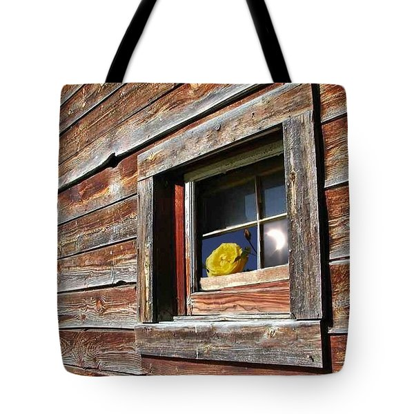 Yellow Rose Eclipse Tote Bag by Tim Allen