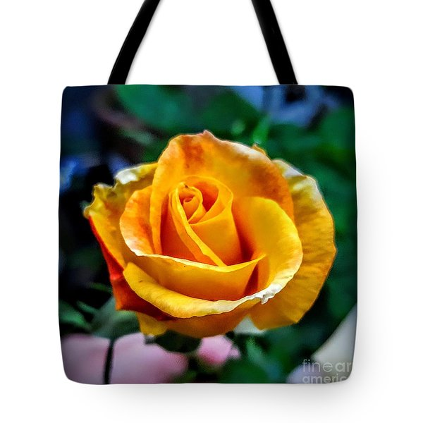 Yellow Rose Tote Bag by Garnett Jaeger