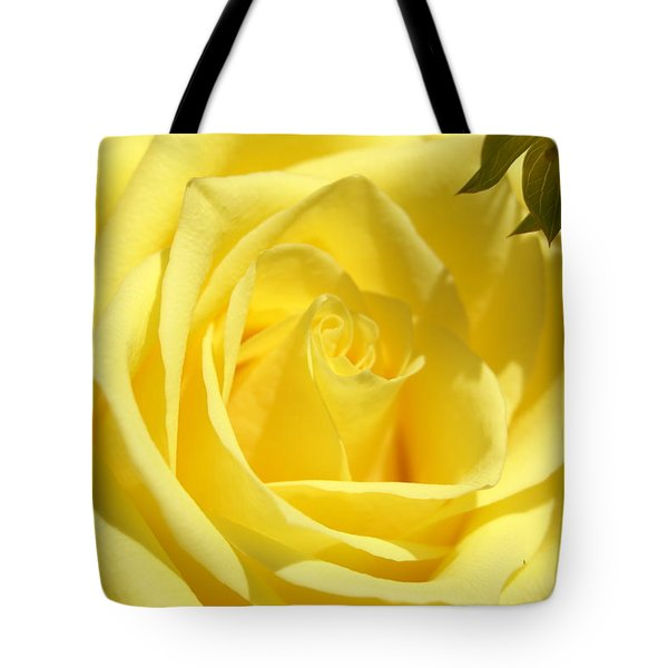 Yellow Rose Tote Bag by Heidi Poulin