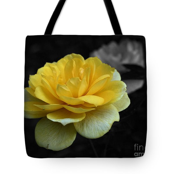 Yellow Rose In Bloom Tote Bag