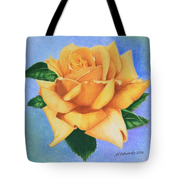 Yellow Rose Tote Bag by Marna Edwards Flavell