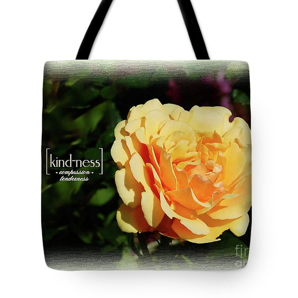 Yellow Rose Of Kindness Tote Bag