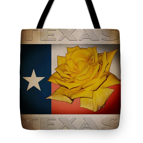 Yellow Rose On Texas Tote Bag