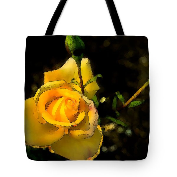 Yellow Rose 2 Tote Bag