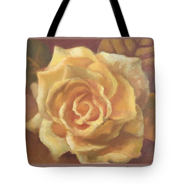 Yellow Rose Tote Bag by Sharon Weaver