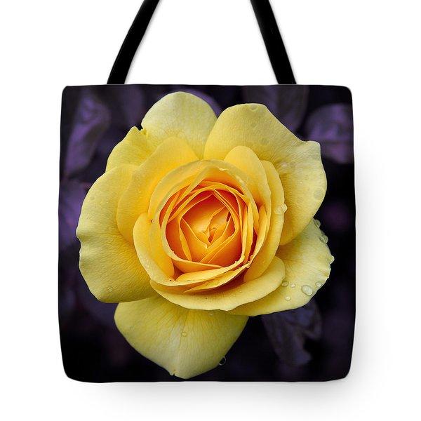 Yellow Rose Square Tote Bag