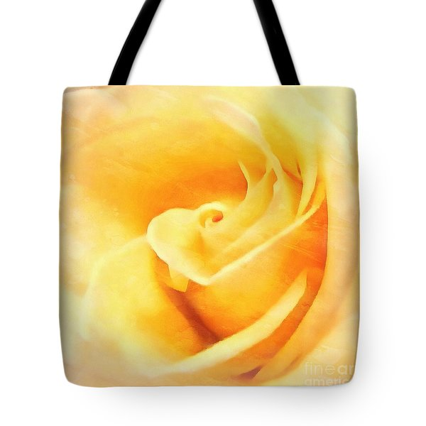 Tote Bag featuring the photograph Yellow Rose - Sweet Whispers by Janine Riley
