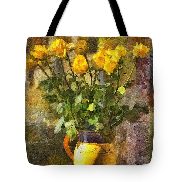 Yellow Roses Bouquet Tote Bag