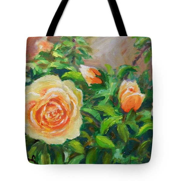 Yellow Roses Tote Bag