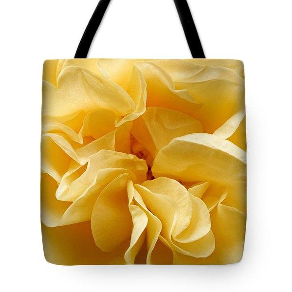 Yellow Ruffles - Rose Tote Bag