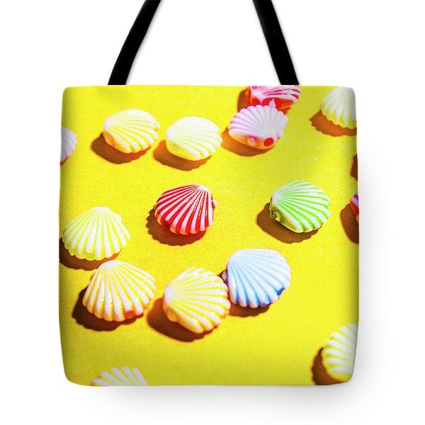 Yellow Seaside Scenes Tote Bag