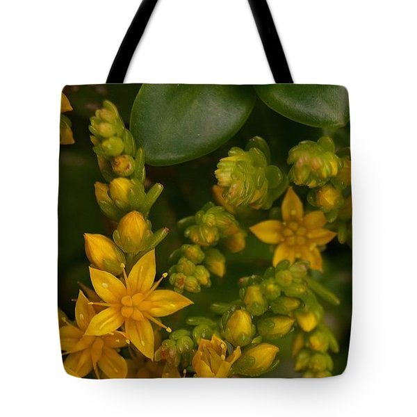 Yellow Sedum Tote Bag