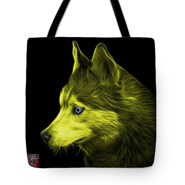 Tote Bag featuring the painting Yellow Siberian Husky Art - 6048 - Bb by James Ahn