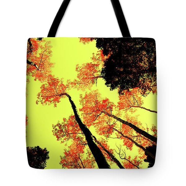 Yellow Sky, Burning Leaves Tote Bag