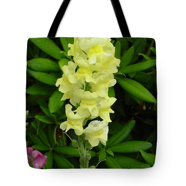 Yellow Snapdragon Tote Bag by Shirley Heyn