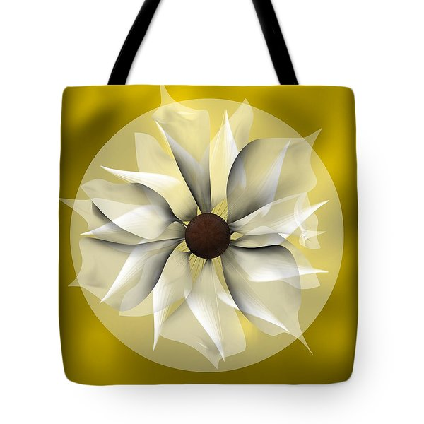 Yellow Soft Flower Tote Bag