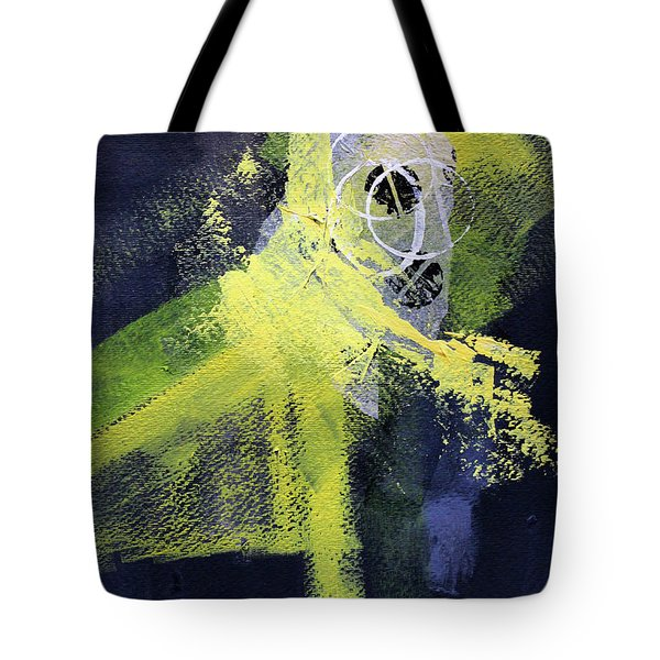 Tote Bag featuring the painting Yellow Splash by Nancy Merkle