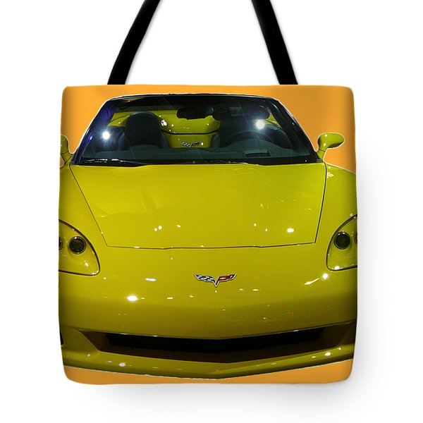 Yellow Sports Car Front Tote Bag