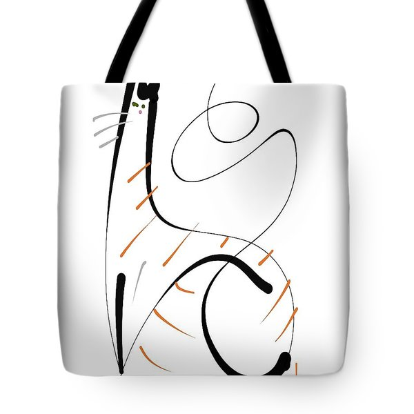 Tote Bag featuring the painting Downton Tabby by Larry Talley