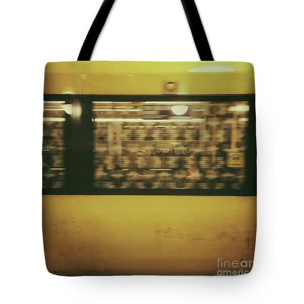 Tote Bag featuring the photograph Yellow Subway Train by Ivy Ho
