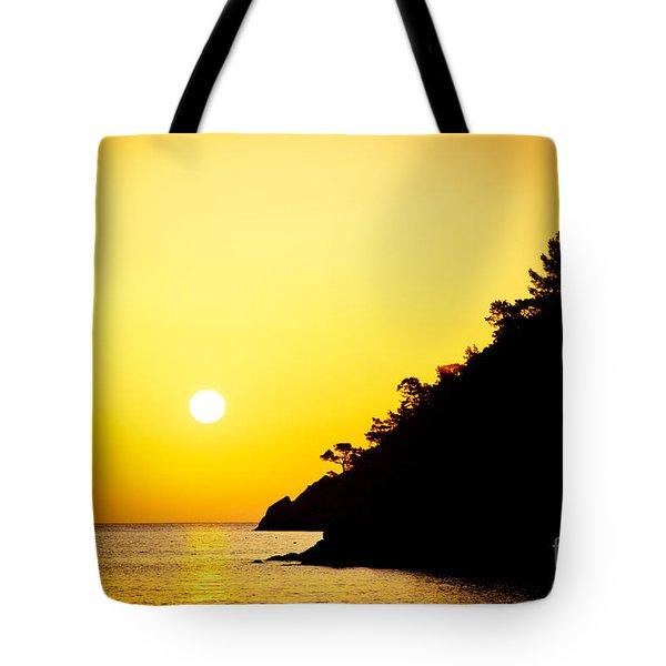 Yellow Sunrise Seascape And Sun Artmif  Tote Bag