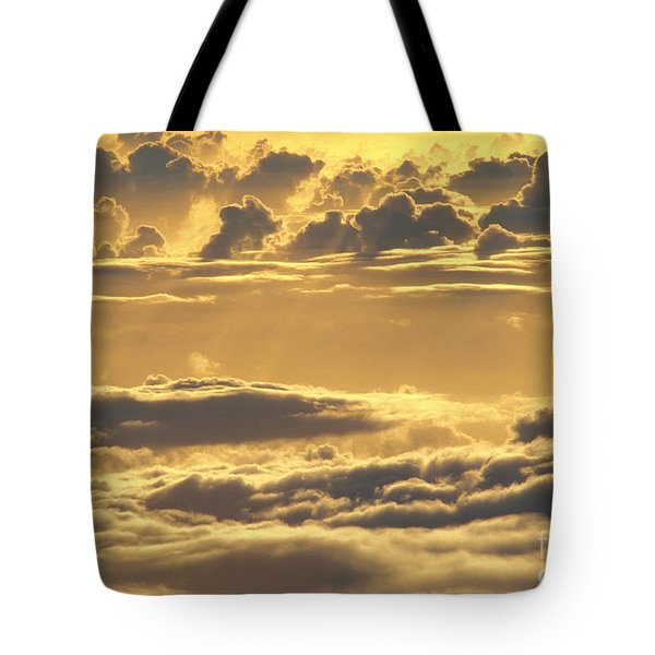 Yellow Sunset Tote Bag by Carl Shaneff - Printscapes