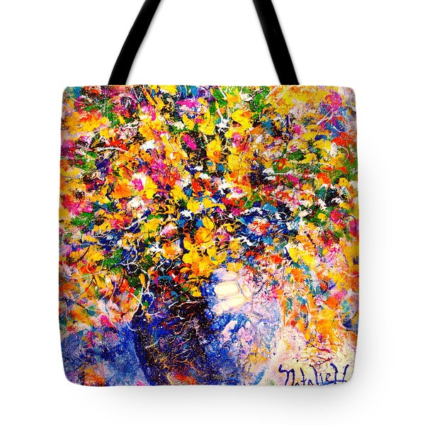 Yellow Sunshine Tote Bag by Natalie Holland
