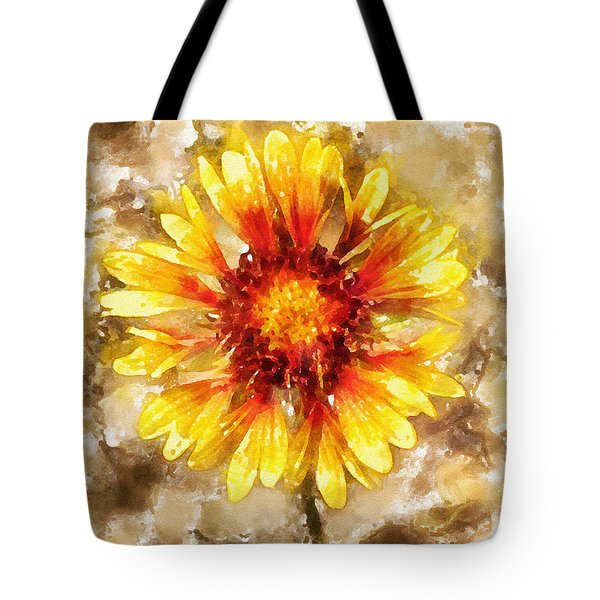 Yellow Sunshine Tote Bag by Shirley Stalter