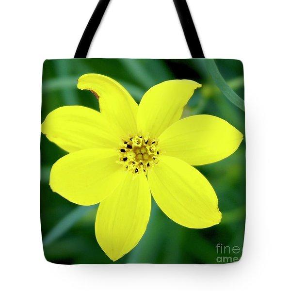 Yellow Threadleaf Tote Bag