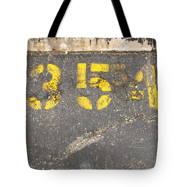Yellow Three Five Five Four Tote Bag