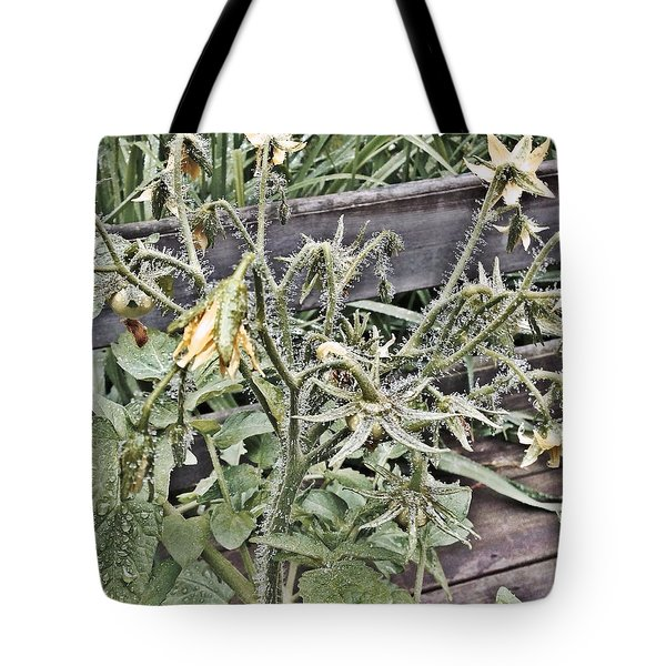 Yellow Tomato Flowers Tote Bag