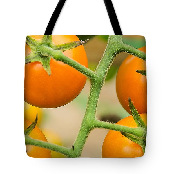 Yellow Tomatoes Tote Bag by Paul Miller