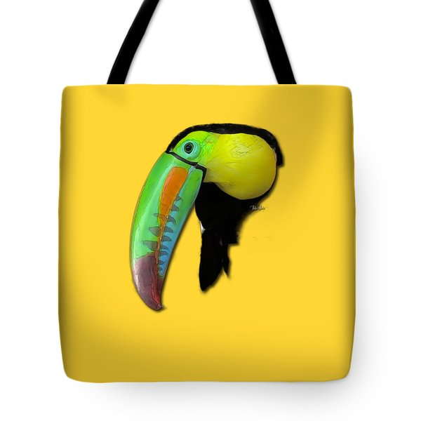 Yellow Toucan Tote Bag