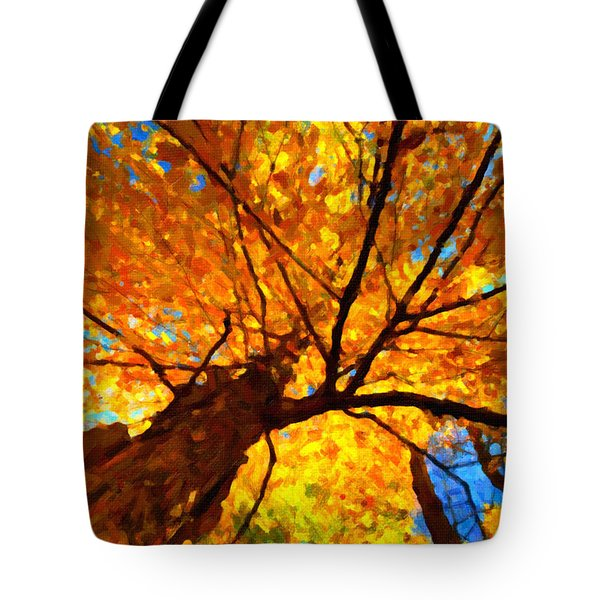 Yellow Tree Tote Bag by Andre Faubert