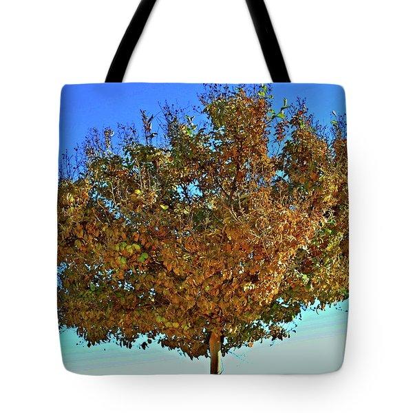 Yellow Tree Blue Sky Tote Bag