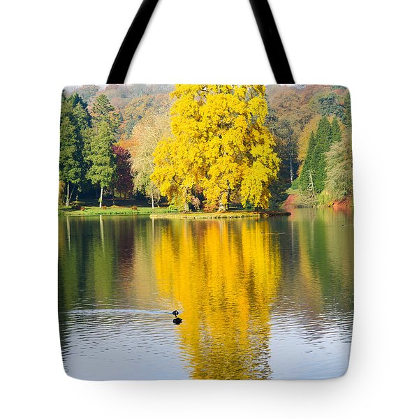Yellow Tree Reflection Tote Bag