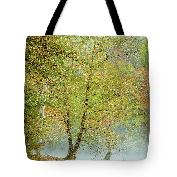 Tote Bag featuring the photograph Yellow Trees by Iris Greenwell