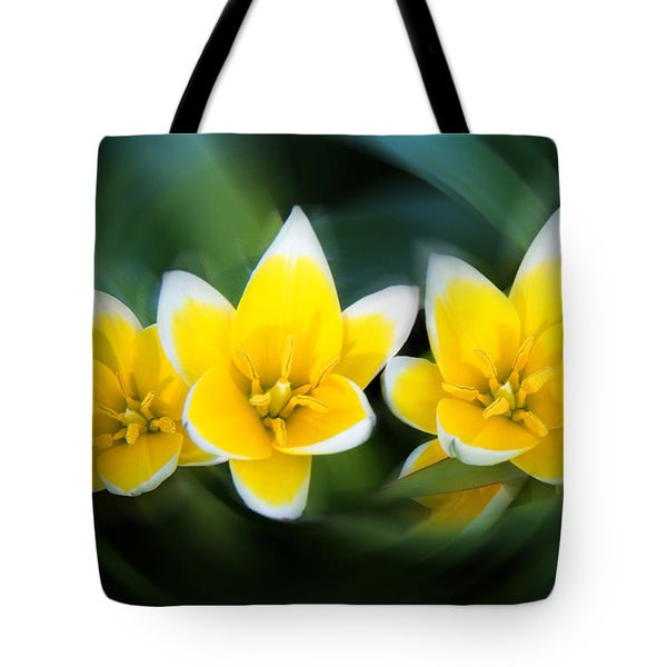 Yellow Trio Tote Bag