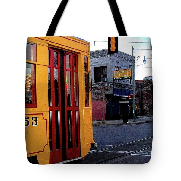 Yellow Trolley At Earnestine And Hazels Tote Bag