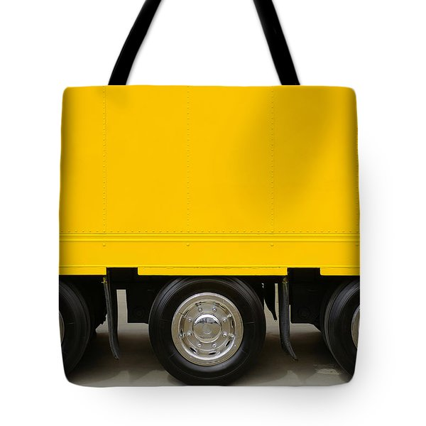 Yellow Truck Tote Bag by Carlos Caetano