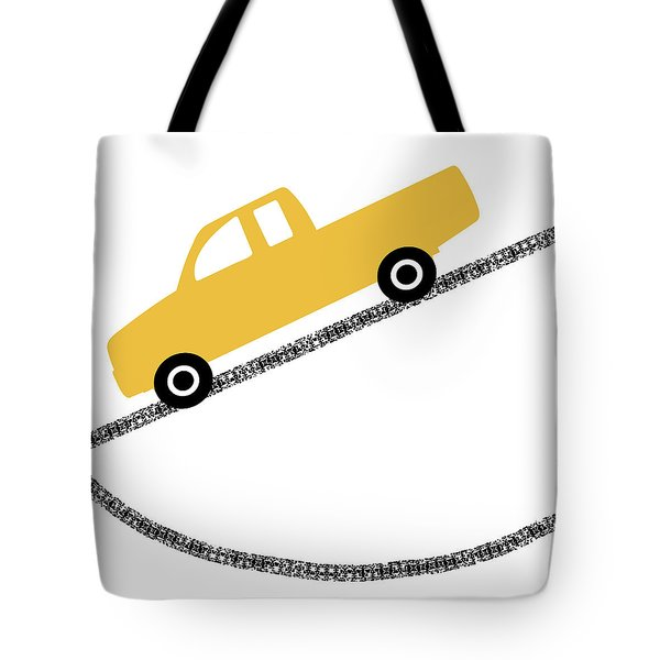 Yellow Truck On Road- Art By Linda Woods Tote Bag