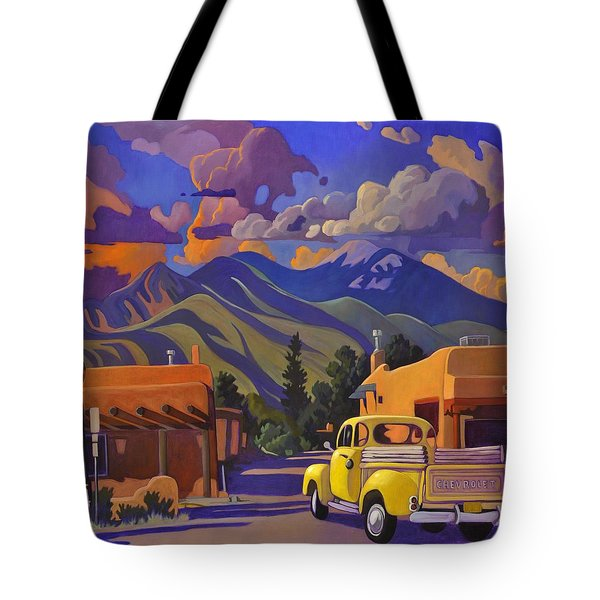 Yellow Truck Square Tote Bag