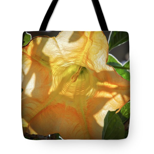 Yellow Trumpet Flower Tote Bag