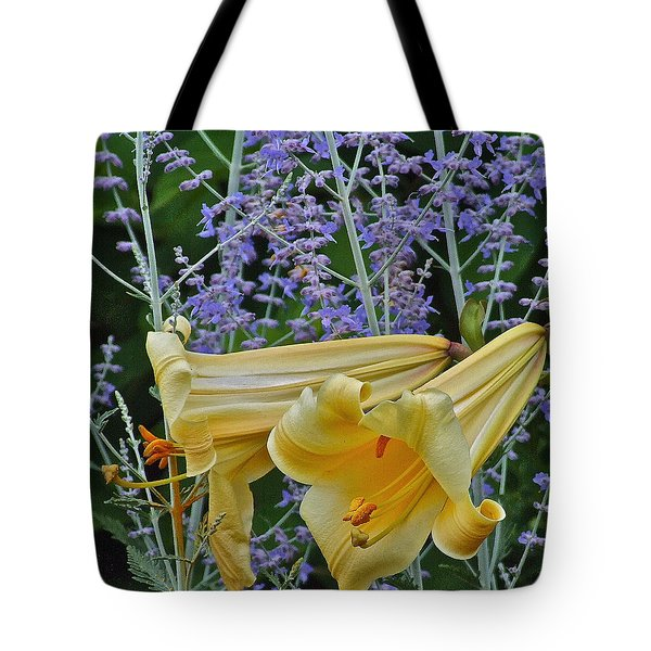 Yellow Trumpets Tote Bag