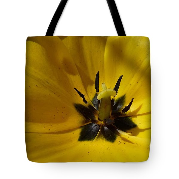Yellow Tulip 1 Tote Bag by Jean Bernard Roussilhe