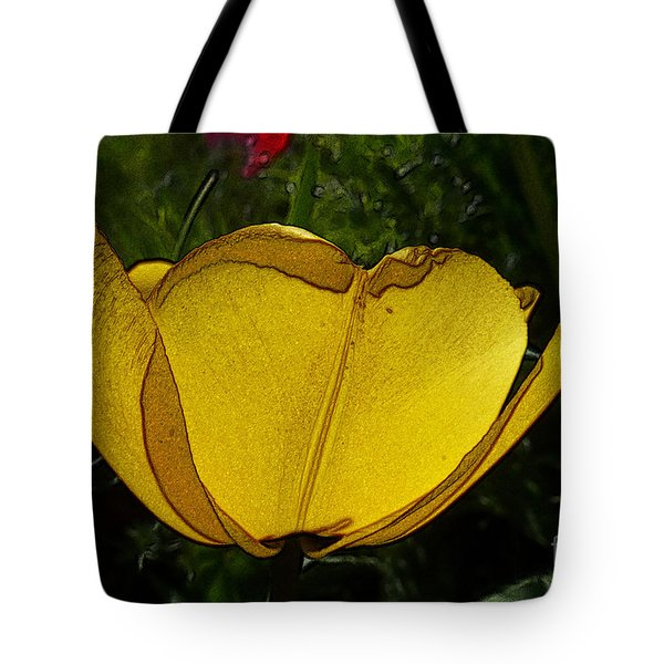 Yellow Tulip 2 Tote Bag by Jean Bernard Roussilhe