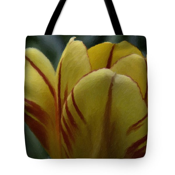 Yellow Tulip  Tote Bag by Andre Faubert
