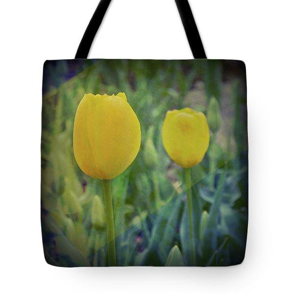 Yellow Tulip Art Tote Bag