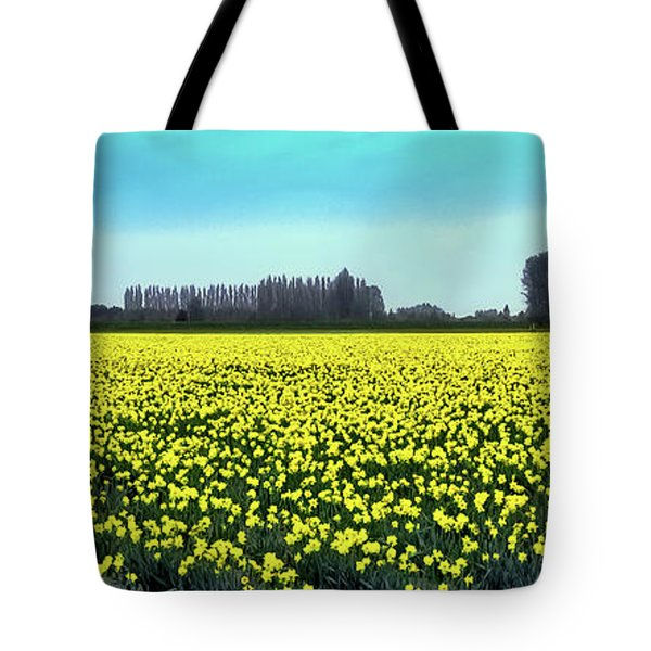 Yellow Tulip Fields Tote Bag by David Patterson