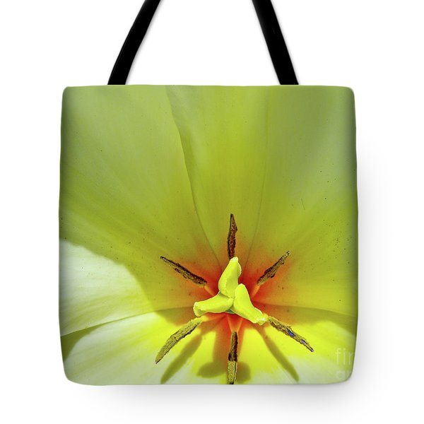 Tote Bag featuring the photograph Yellow Tulip by Susan Cole Kelly